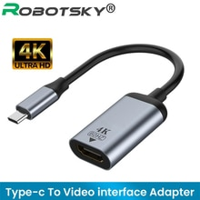Кабель адаптер USB Type C в Mini DP VGA Gigabit RJ45, 4K 60 Гц, USB 3,1 Type C в HDMI совместимый преобразователь, аудиокабель для MacBook