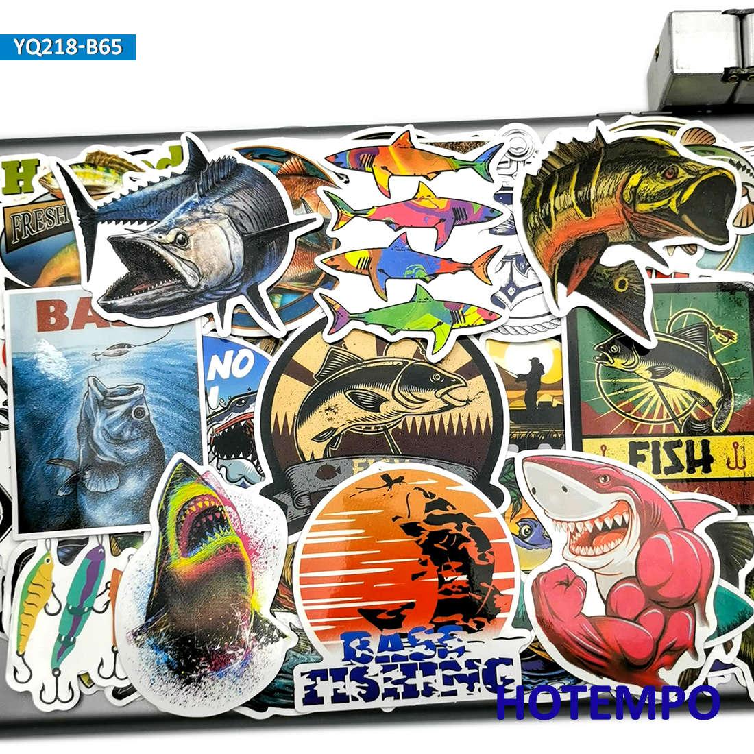AliExpress - 65pcs Outdoors Fisherman Go Fishing Fashion Fish Stickers for Mobile Phone Laptop Luggage Skateboard Box Tank Bucket Art Sticker