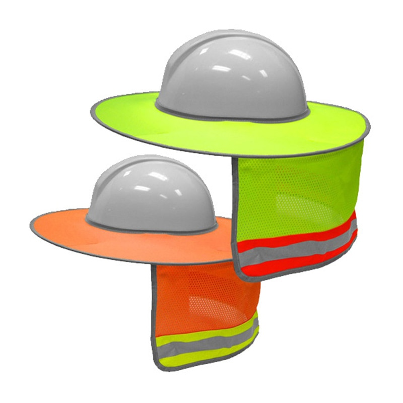 Protector solar para Sombrero duro alta visibilidad reflectante ala completa malla parasol protección del cuello AS99