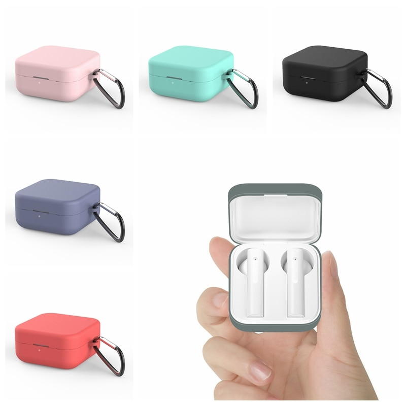 Silicone Protective Earphone Case for Xiaomi Air 2 SE Bluetooth Headphones Boxs For Xiaomi Mi Air2 SE Earbuds Cover with Hook
