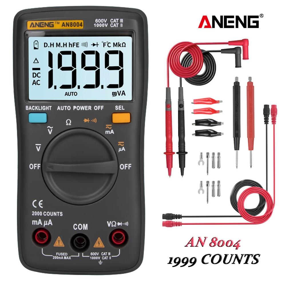 ANENG-multímetro Digital AN8004, condensador Transistor Profesional, esrlcr, multímetro analógico, true rm