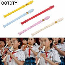 OOTDTY Plastic Musical Instrument Recorder Soprano Long Flute 8 Holes
