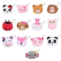 key pocket monkey rabbit usb cable bag earphone case mini cute wallet panda dog plush animal doll cartoon coin purse