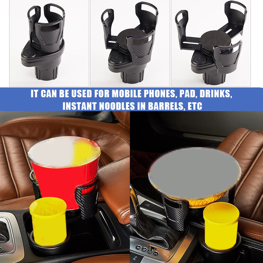 Car Dual Cup Holder Adjustable Sunglasses Phone Stand Organizer Drinking Water Bottle Holder Bracket