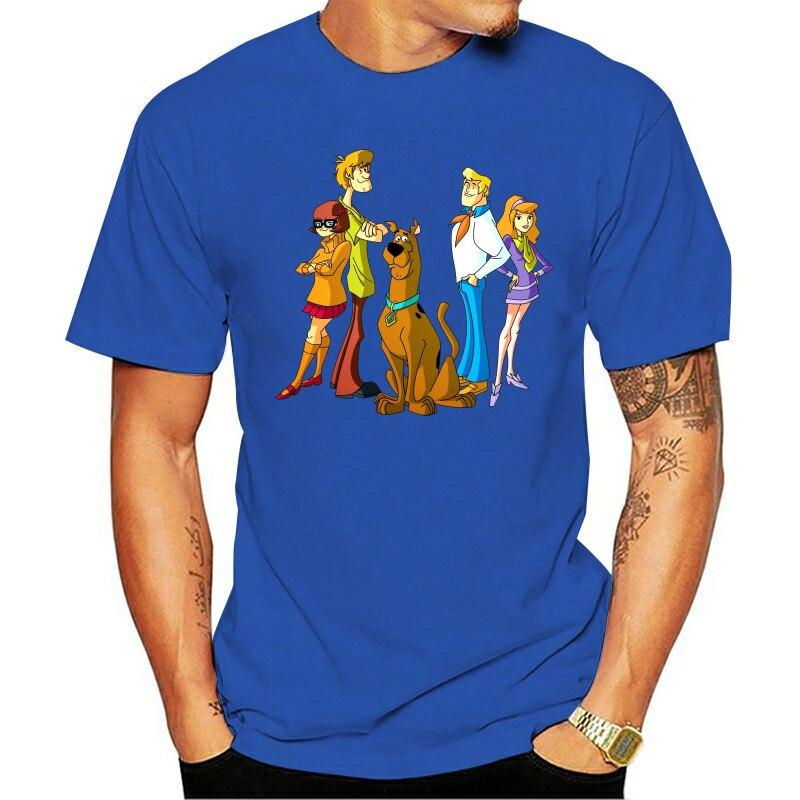 Camiseta Scooby Doo de dibujos animados familia divertida cumpleaños presente Unisex T camisa T camisas de 2020 ropa de marca Slim impresión