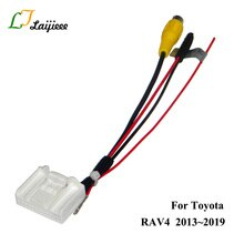 24 Pin Rear Camera RCA Adapter Cable For Toyota RAV4 RAV 4 2013~2019 OEM Monitor Nondestructive Install Reverse parking Camera