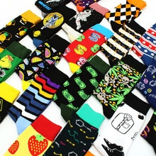Spring New Arrived Happy Socks Men Funny Art British Style Streetwear Hip Hop Animals Characters Designer Crew Sock Gift for Men