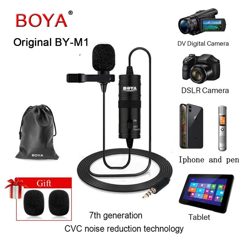 BOYA BYm1 solapa Youtube grabador de Audio para iphone/sony Canon Nikon iOS Android Zoom videocámara DV DSLR Cámara Smartphone