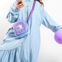 disney genuine frozen girl bag square cartoon cute one shoulder plush messenger bag double zipper