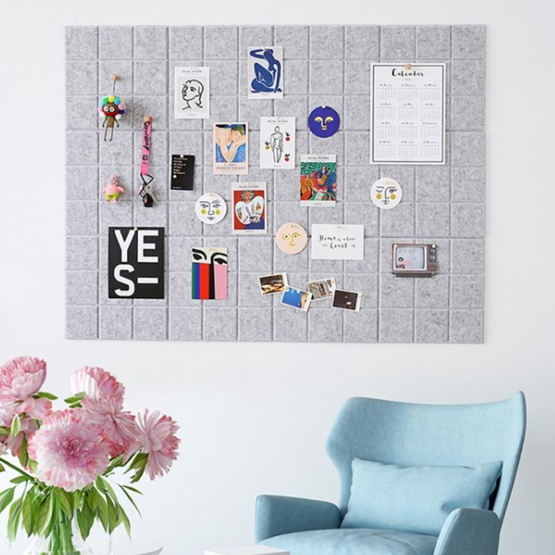 Estilo nórdico sentiu carta placa de nota placa mensagem casa decoração da parede do escritório planejador agenda placa foto exibição decoração