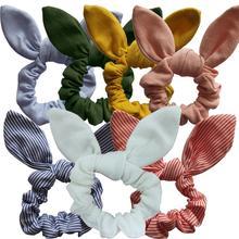 Bandes élastiques pour cheveux filles/femmes   Accessoires pour cheveux avec oreilles de lapin, Scrunchie