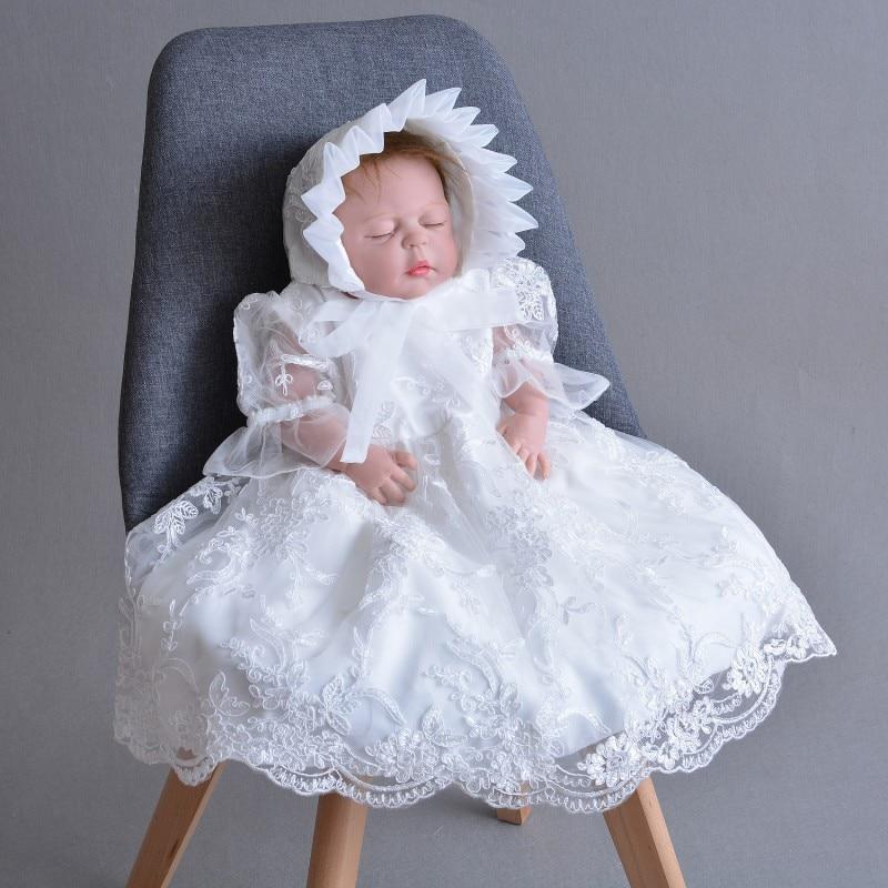فستان التعميد بأكمام قصيرة للفتيات الصغيرات ، فستان المعمودية ، ياقة دائرية ، مع سترة ، 2020
