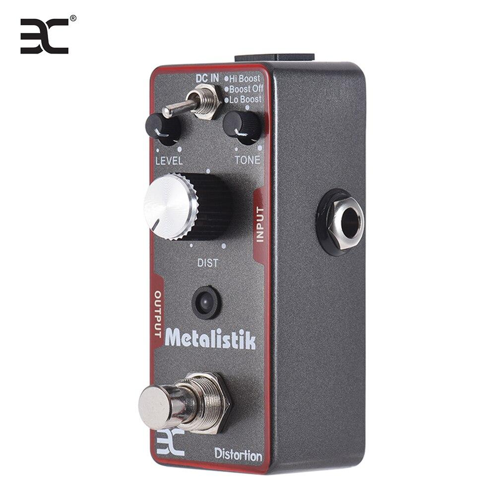 ENO TC-11 Pedal de efecto de distorsión de guitarra de Bypass verdadero Metalistik