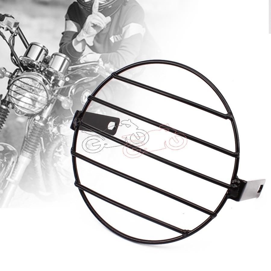 "Máscara de Metal Vintage para motocicleta, para Faro de montura lateral y parrilla de 7,4 "", ajuste Universal para Honda Yamaha Kawasaki Chopper"