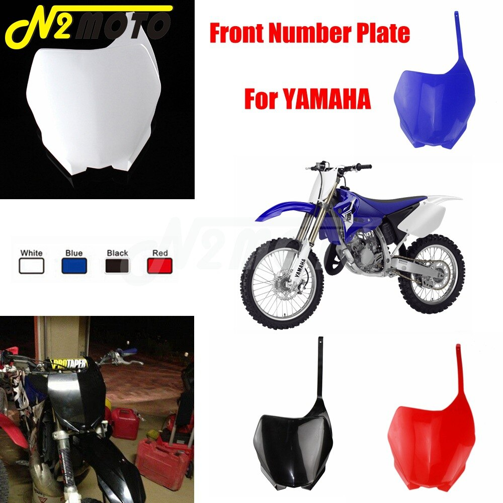 Para YAMAHA YZ125 YZ250 YZ250F YZ450F WR250F WR450F YZ 125 250 250F 450F WR 250F Motocross de carenado frontal número de placa