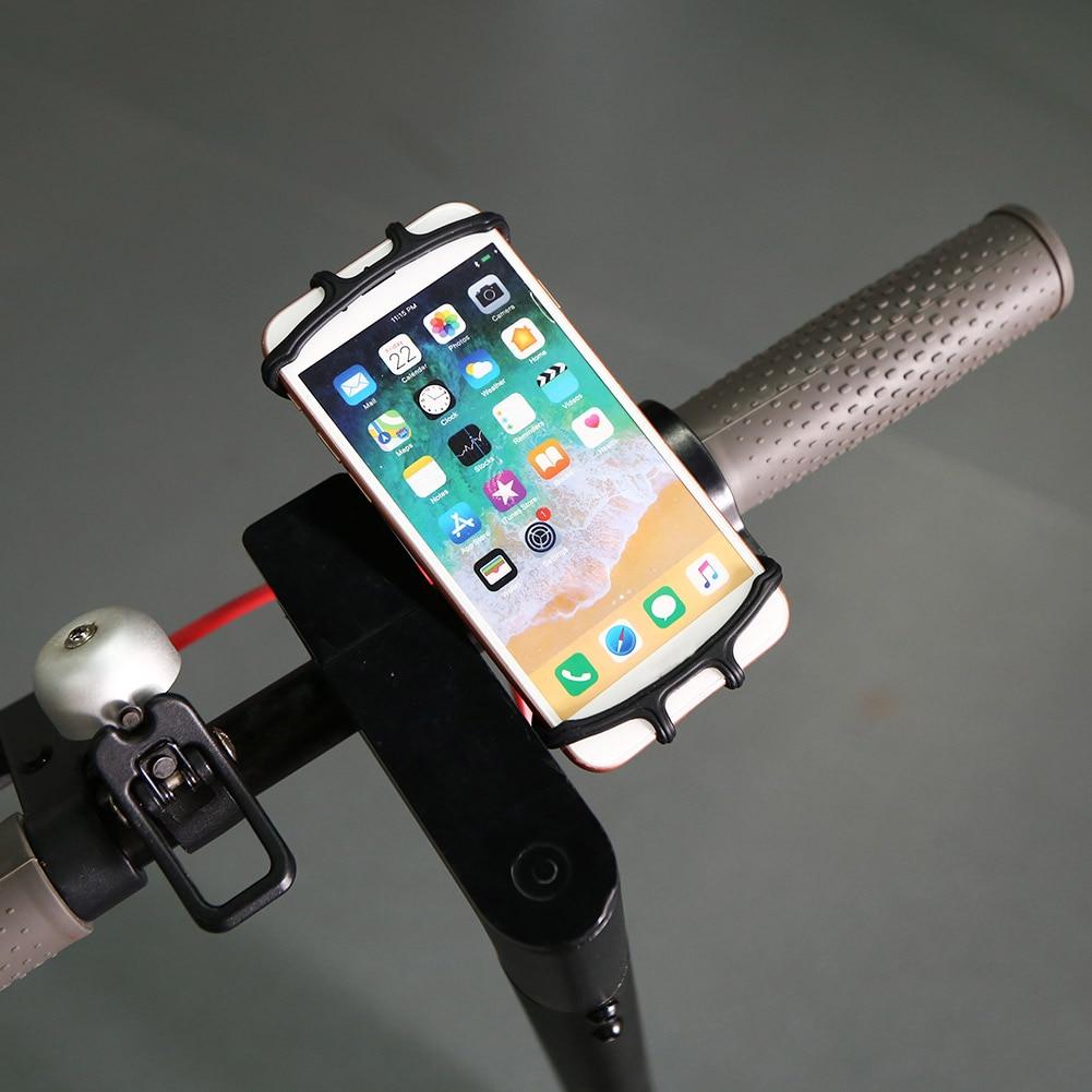 Soporte de teléfono de silicona bicicleta GPS soporte para teléfono motocicleta soporte MTB bicicleta manillar Smartphone Rack piezas de bicicleta