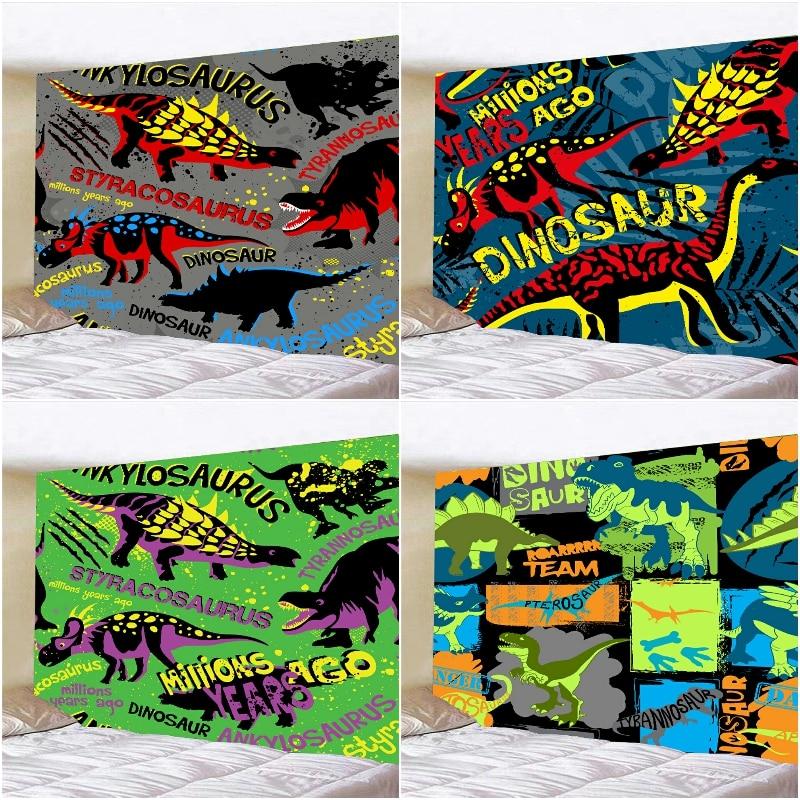 Настенный гобелен с рисунком динозавра, украшение для дома и спальни, гобелены с животными, художественный Декор для гостиной