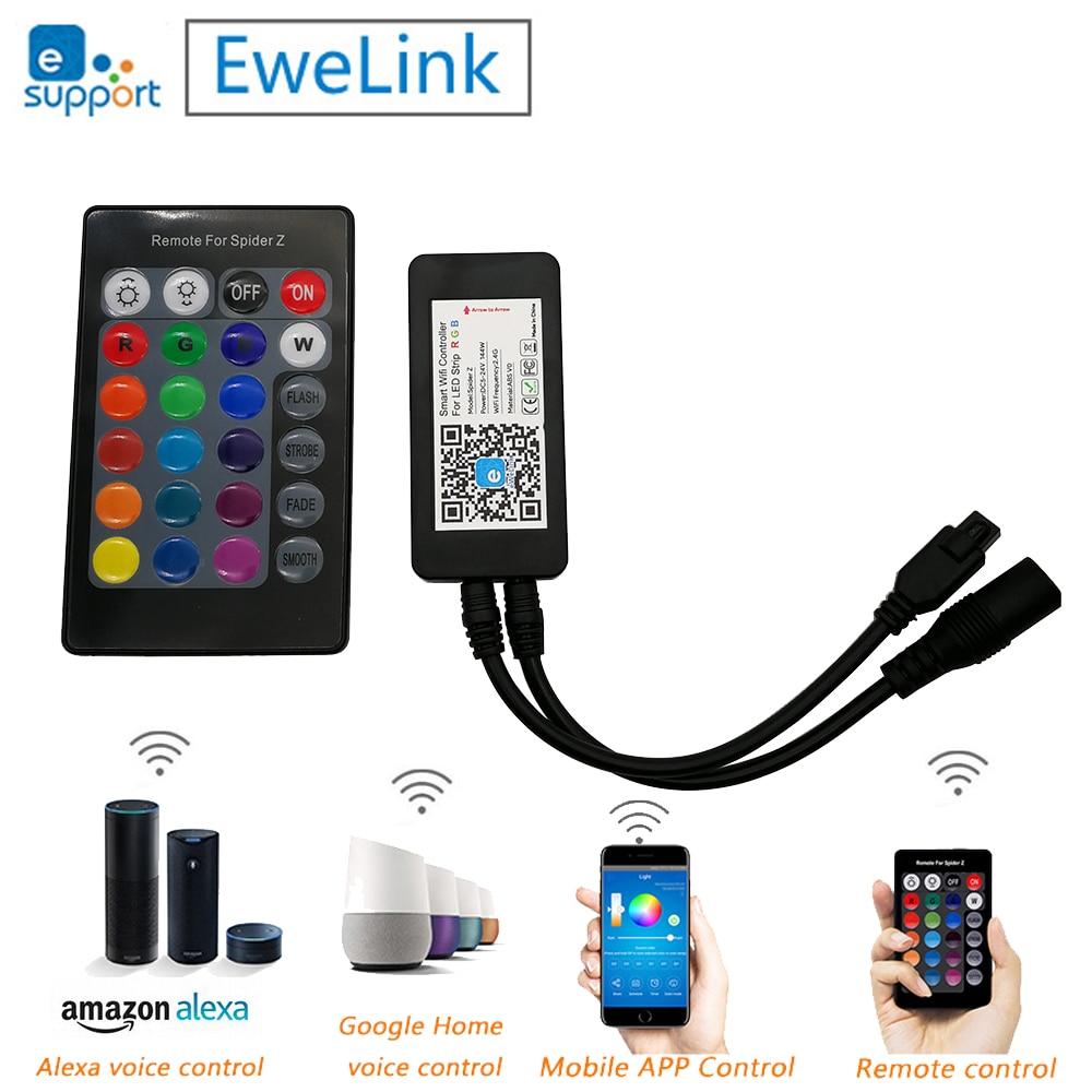 Spider Z Smart Wifi RGB led контроллер 24Key ИК пульт дистанционного управления DC5V 12 в 24 В поддержка Alexa TMALL GENIE Google Home EWELINK приложение