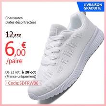 Scarpe Casual da donna moda scarpe da passeggio traspiranti scarpe basse Sneakers donna 2020 scarpe vulcanizzate da palestra calzature femminili bianche