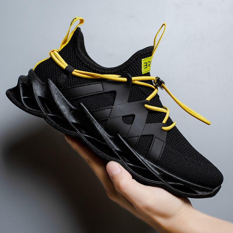Zapatos de moda para hombre, calzado informal barato, banda elástica transpirable, Calzado cómodo, zapatos de ocio, Tenis, zapatillas de deporte para hombre resistentes