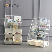 Childrenundefineds Spielzeug Lagerung Kindergarten Schrank Sortierung Regale Baby Einfache Eisen Bücherregal