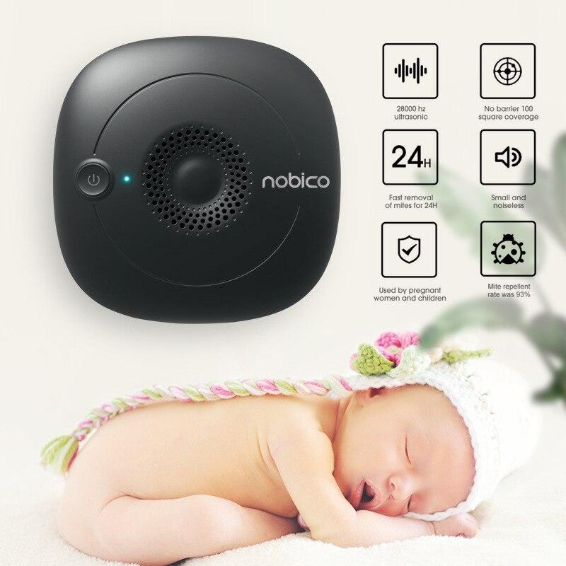 Nobico, controlador ultrasónico de ácaros del polvo, dormitorio, dormitorio, edredón, almohada, limpiador, dispositivo de control de insectos físicos de 220V
