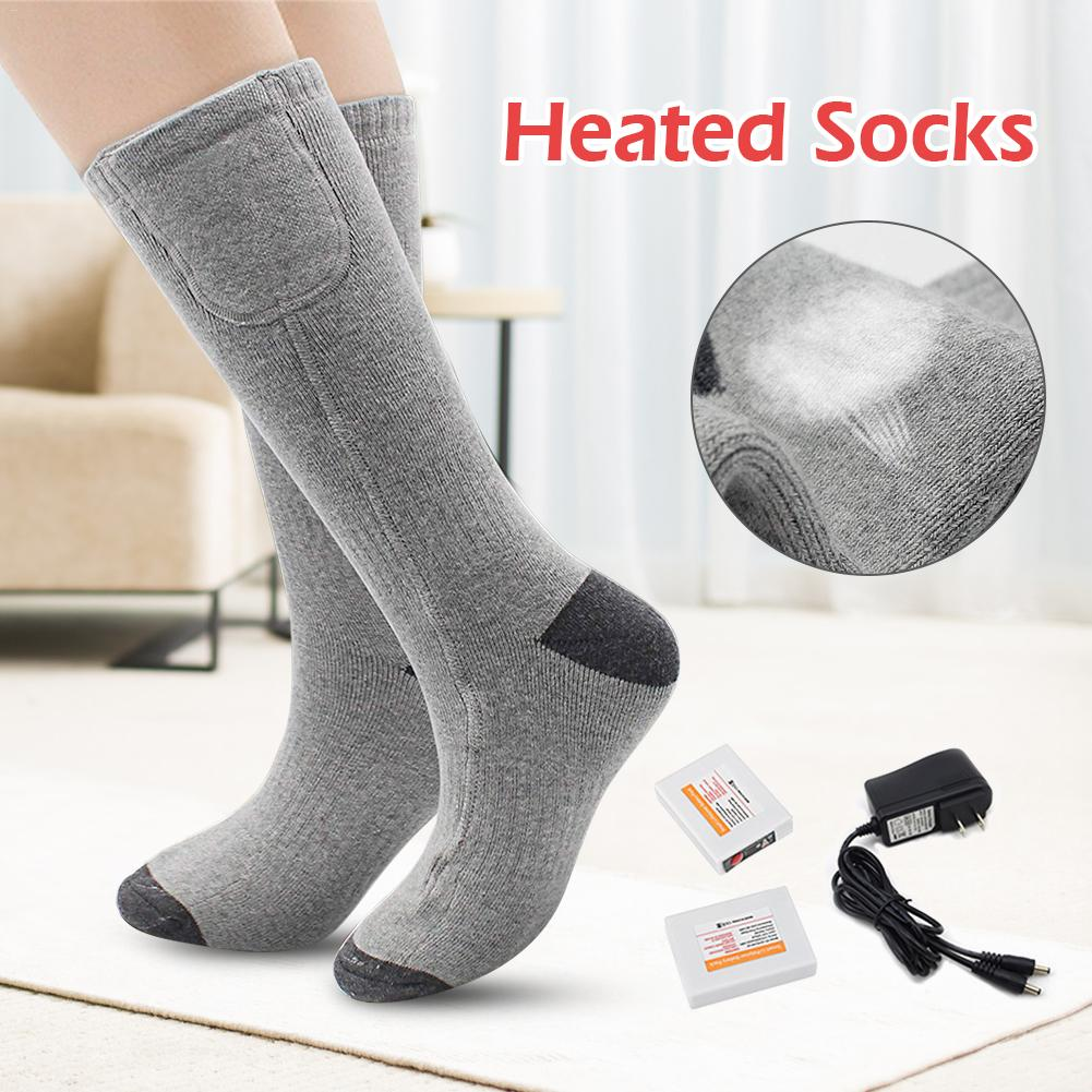 High-quality 3.7V Winter Cotton Breathable Sweat-absorbing Shaping Elastic Heating Heat Warm Socks