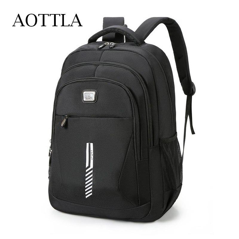 AOTTLA حقائب الظهر أكسفورد القماش مقاوم للماء العلامة التجارية حقيبة كتف رجالية غير رسمية كبيرة عالية الجودة حقيبة السفر الذكور للجنسين Mochila