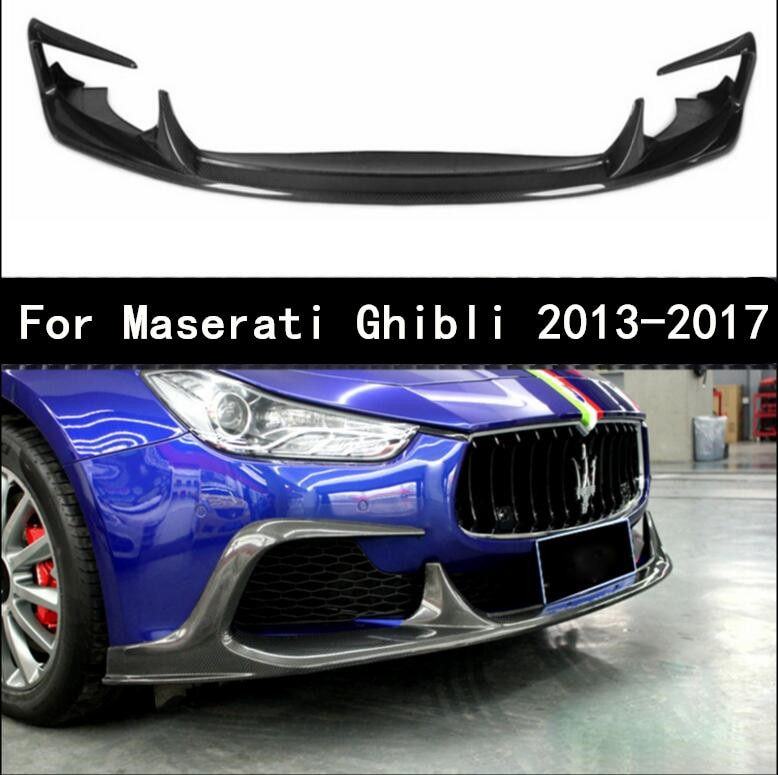 Coche de fibra de carbono de parachoques delantero Spoiler Auto difusor se adapta para 13-17 Maserati Ghibli 2013-2017