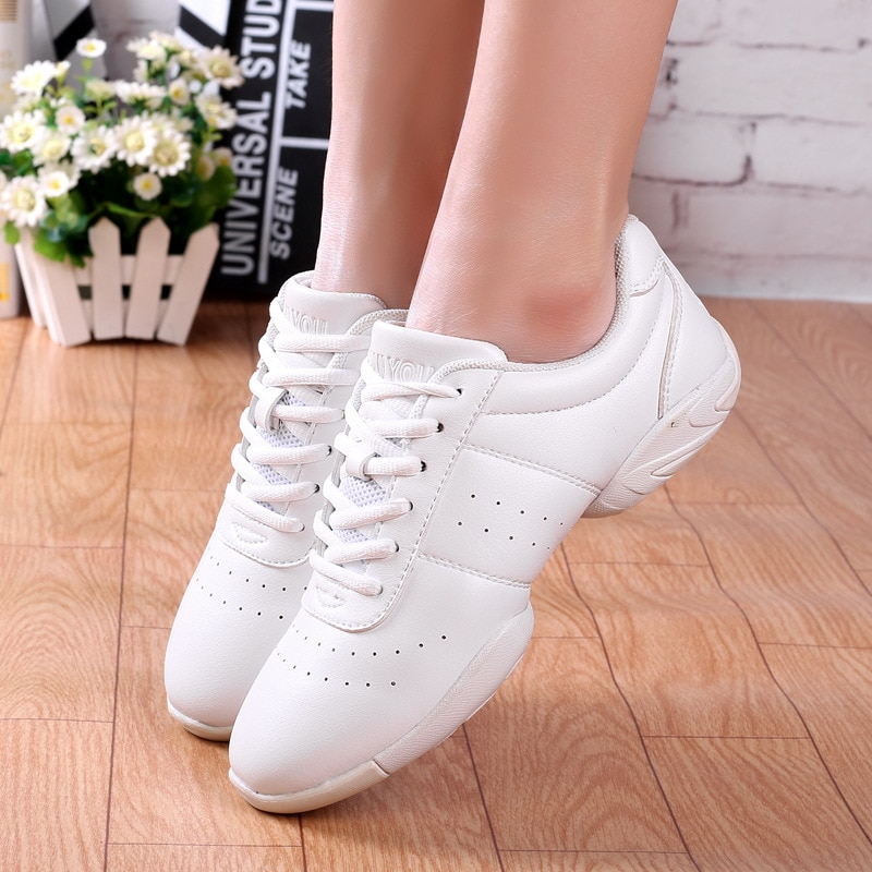 sneakers children's competitive aerobics shoes soft bottom fitness Couple white athletic shoes Jazz