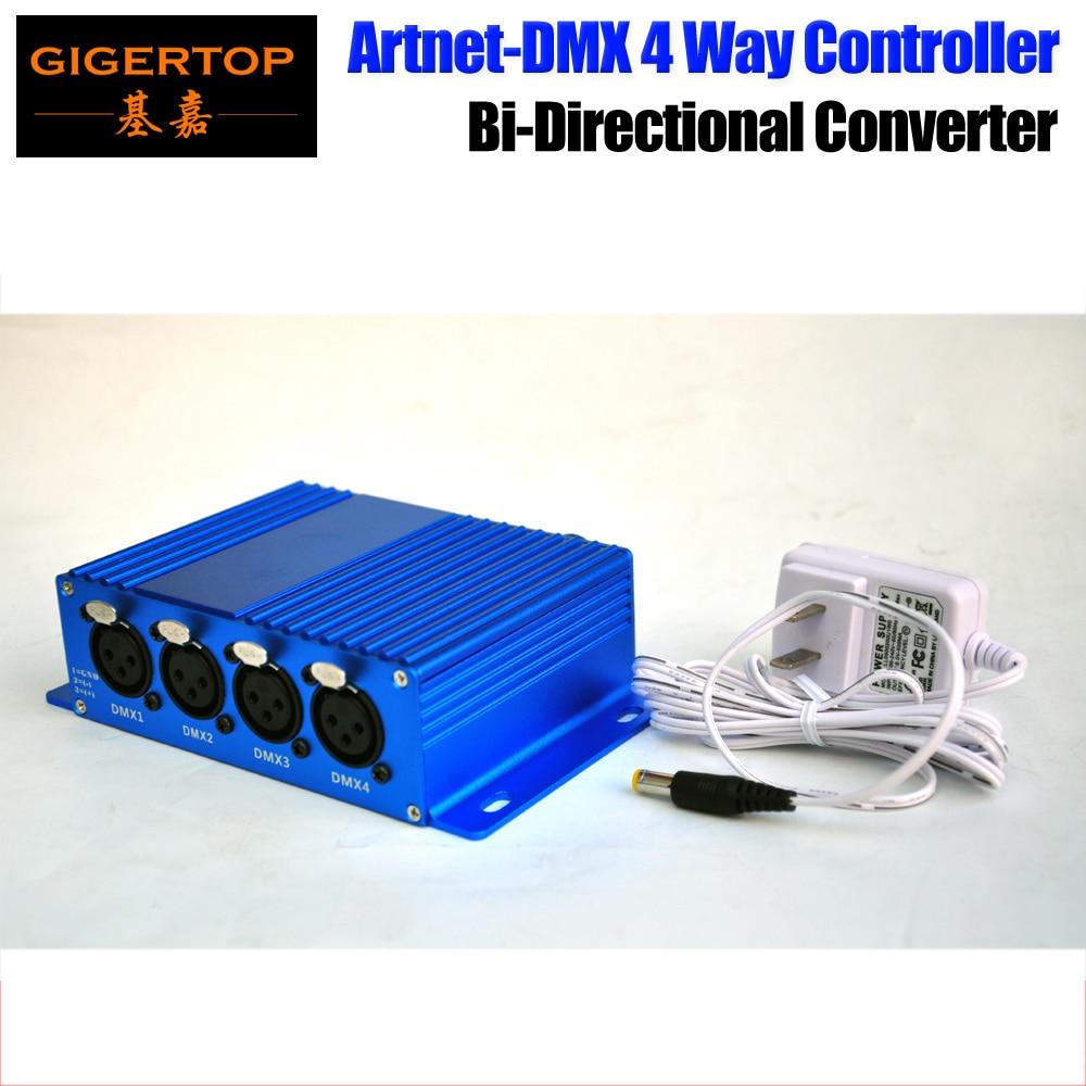 TIPTOP TP-D16 ArtNet-DMX 4 Four way ArtNet DMX Bi-Directional Converter 4 Female 3PIN XLR IN/OUT Signal Converte Ethernet Cable tiptop tp d16 artnet dmx 4 four way artnet dmx bi directional converter 4 female 3pin xlr in out signal converte ethernet cable