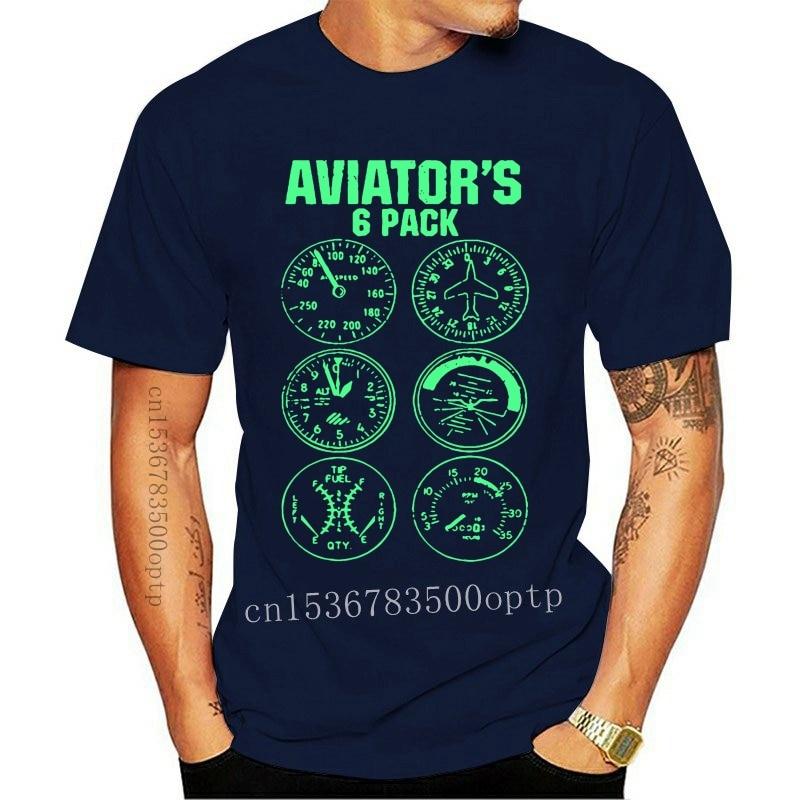 New Aviator Six Pack T Shirt Men Short Sleeve Crew Neck Tees Male 2021est Big Clothes Cool Summer Comfortable Dad Tee Shirt