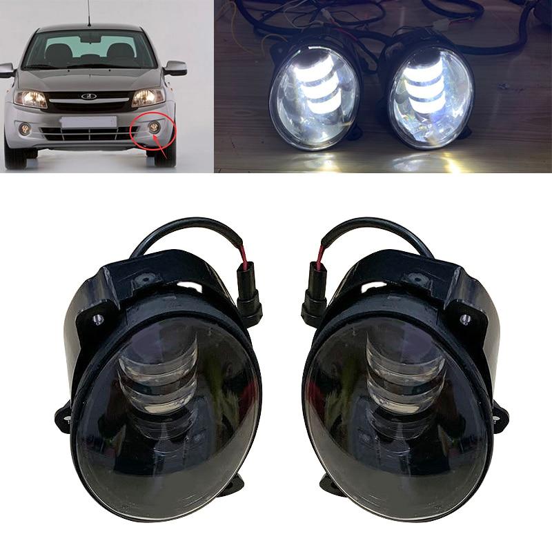 Nuevo conjunto de luces antiniebla Led redondas superbrillantes de 3,5 pulgadas 30W anillo Halo blanco para lada