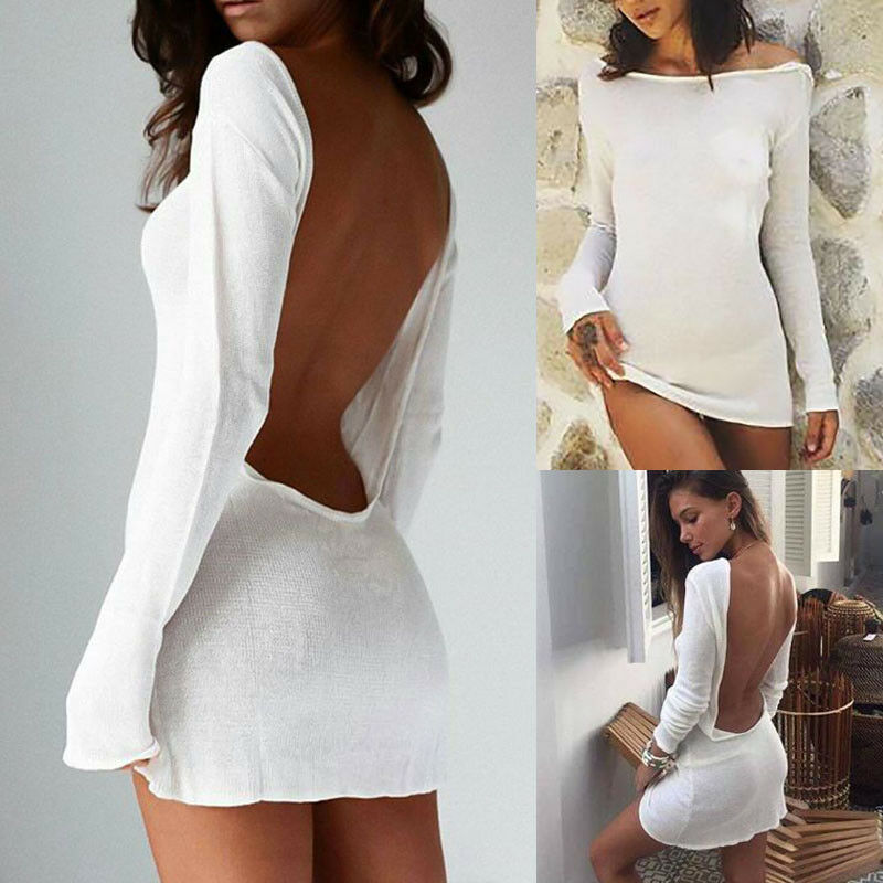 Sexy Solid White beach cover up sarong summer bikini cover-ups pareo beach dress Mesh Backless Mini Dress summer sexy maxi dress sexy openwork white beach dress v neck flared sleeve white sexy dress cover up beach woman