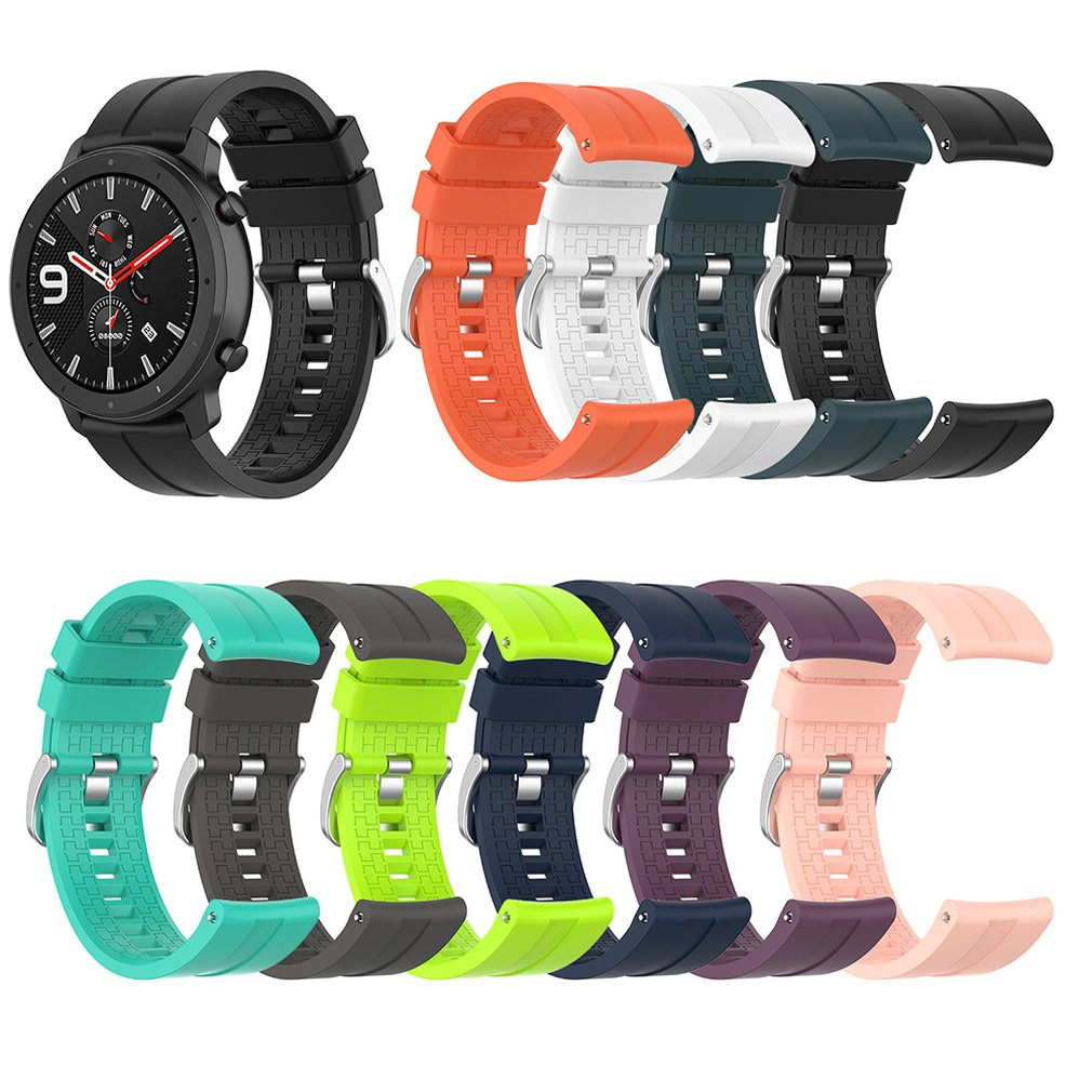 Sports Silicone Wrist Strap for Xiaomi Huami Amazfit GTR 47mm Band for Huami Amazfit Bip lite Watch Bracelet watchband sports silicone wrist strap bands for xiaomi huami amazfit bip bit pace lite youth smart watch replacement band