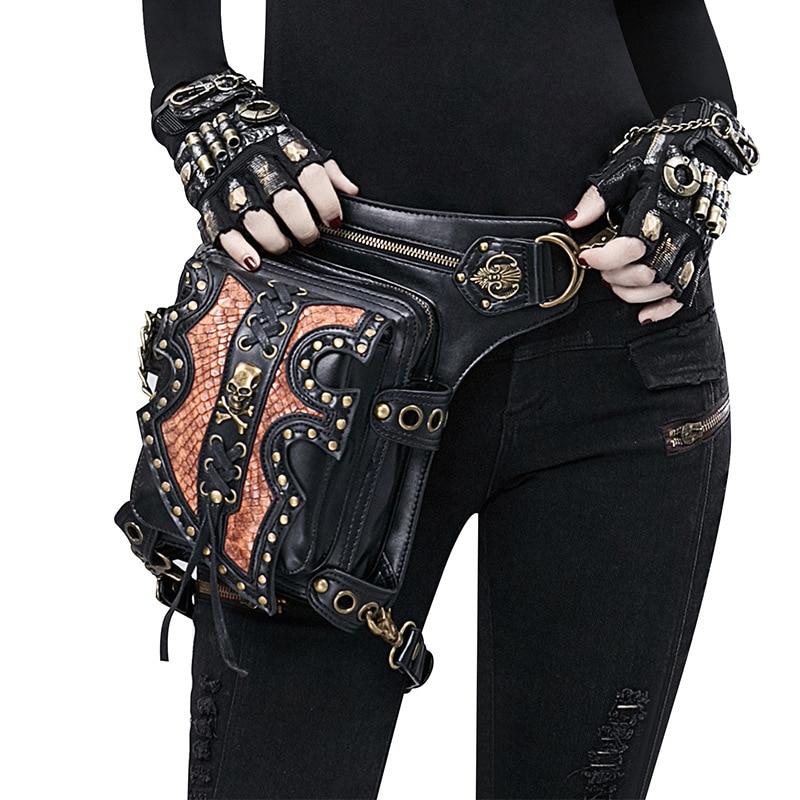 حقيبة كتف على الطراز القوطي للرجال والنساء ، حقيبة كتف على شكل جمجمة وعظمتين متقاطعتين ، مثالية للسفر