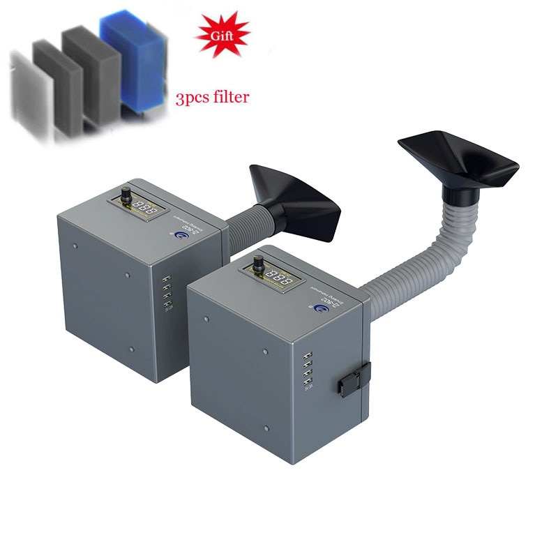 Fume Extractor Laser Solder Smoke Absorber 16-55cm Hose Dust Extractor With CE Air Purifier ForPhone Repair Welding Absorbing