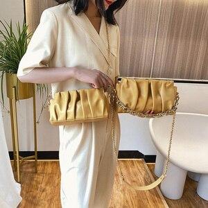 Women's Bag Chain Belt Bag Fashion Versatile Shoulder Bag Cloud Style Handbags Large Capacity Bag Women Female Purse