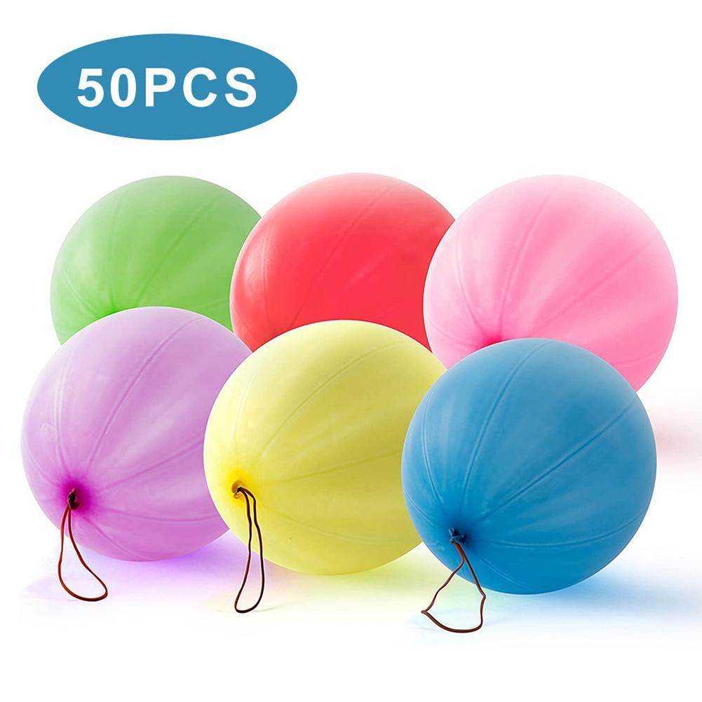 50 шт. удар Мячи воздушные шары смешанных цветные латексные шары День рождения Сувениры удар шары 18 дюймов пробивая воздушные шары для свадь...