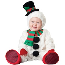 0-3Years Baby Christmas Snowman Rompers Kid Birthday Party Role Play Dress Up Outfit Festival Xmas H