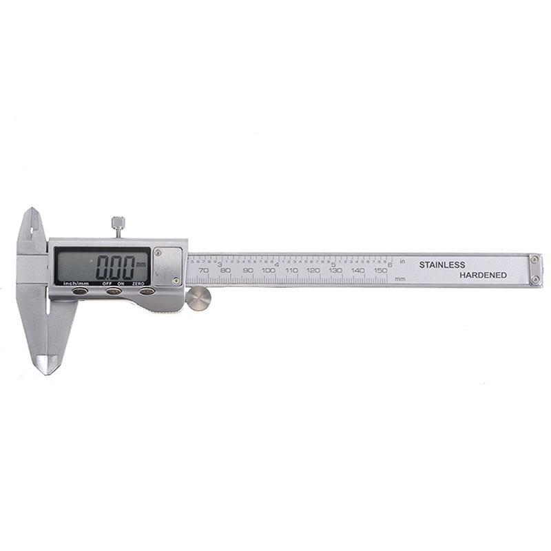 Zinc Alloy Digital Calipers Vernier Caliper Metal Micrometer Analysis Measuring Tool Calipers 0-150mm