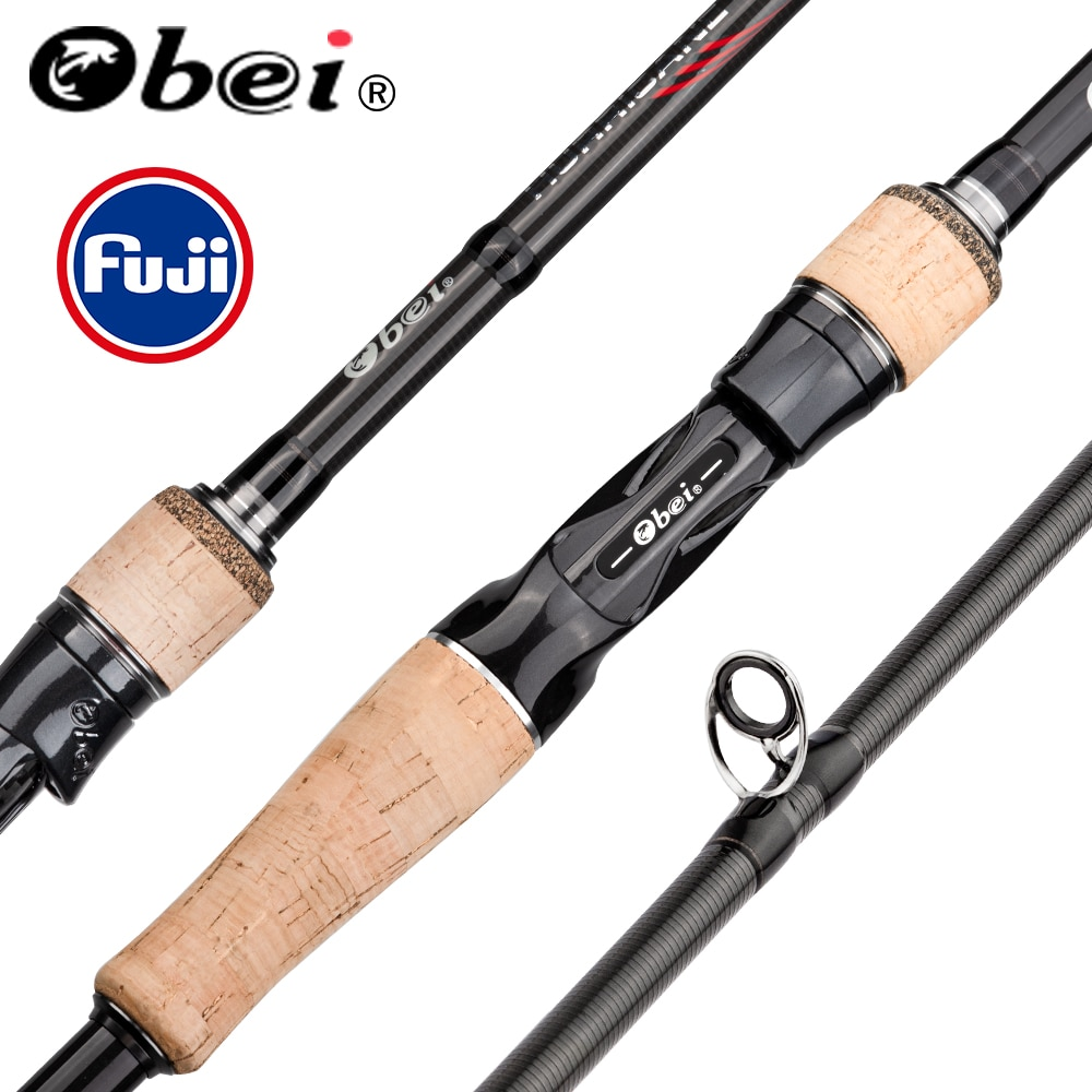 Obei HURRICANE 1.8/2.1/2.4/2.7/3.0m Fuji Baitcasting Fishing Rod Travel Ultra Light Casting Spinning Lure 5g-40g M/ML/MH Rod