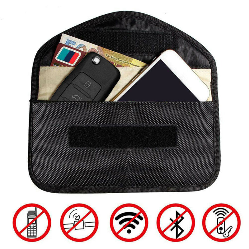 Men Coin Purse Wallet Phone Bag Car Key Signal Blocker Bag Keyless Fob RFID Blocking Pouch Case Bag Anti hacking Pocket /BY