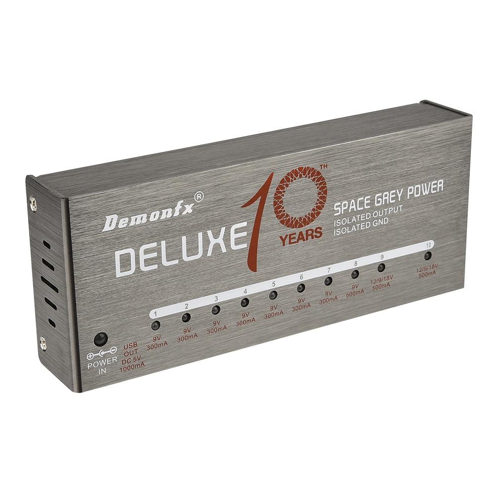 Demonfx Guitar Effect Pedal Power Supply Space Grey 11 Isolated Guitar Effect Pedals Power Supply 12 Cables Kit Guitar Parts enlarge