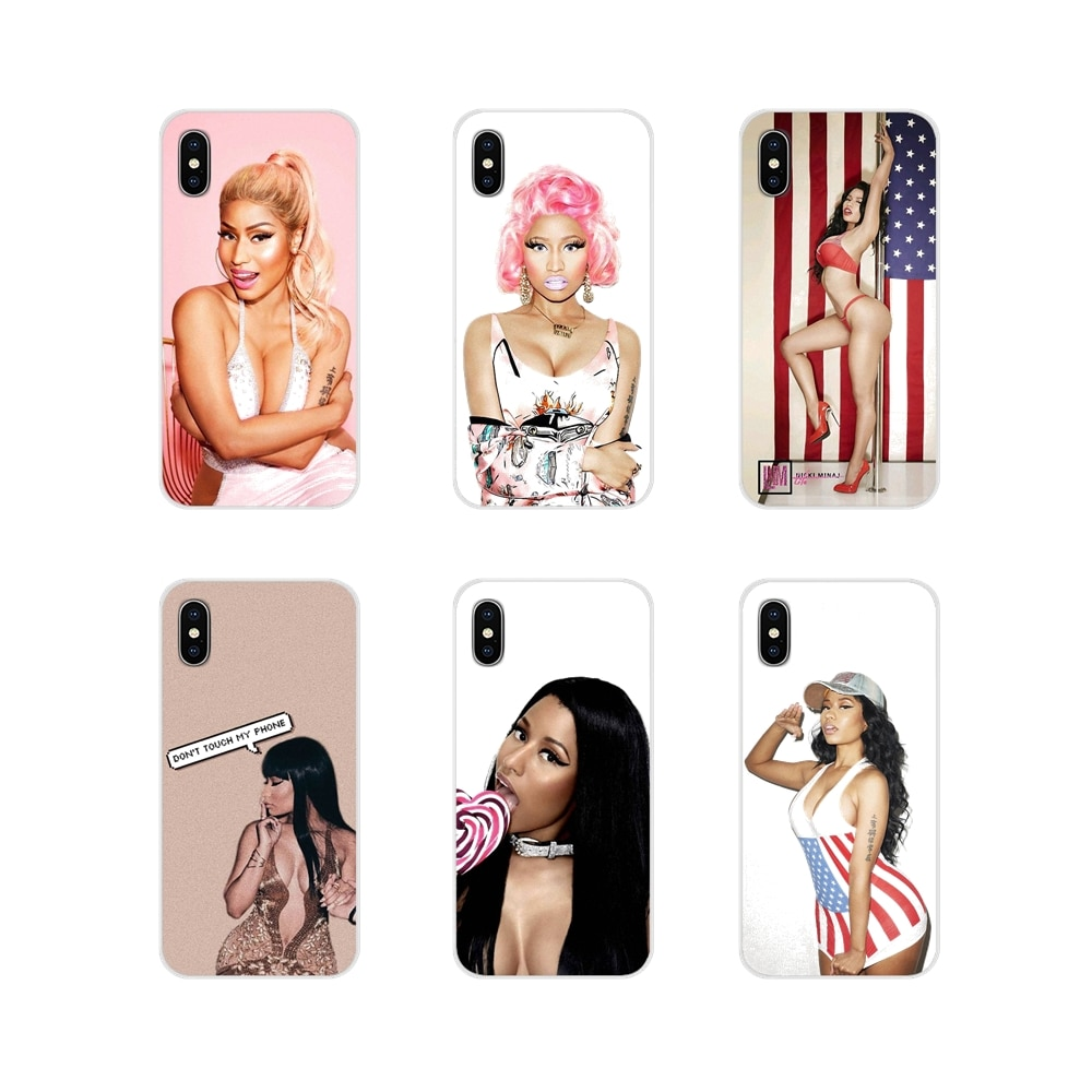 Para apple iphone x xr xs 11pro max 4S 5S 5c se 6 s 7 8 plus ipod touch 5 6 transparente capa macia nicki minaj à venda de luxo legal
