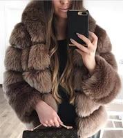 woman winter coats and jackets warm faux fake fur cardigan jacket plush womens street casual wear