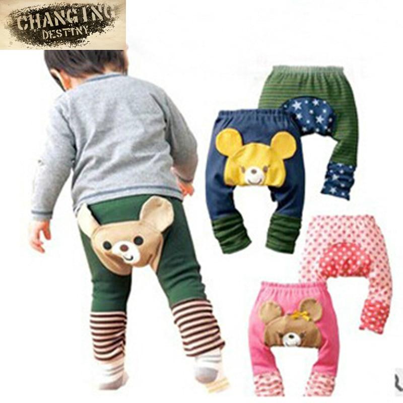 1 unidad de mallas para niños y niñas, pantalones bombachos de PP, pantalones de algodón Busha, pantalones de dibujos animados de oso Animal para niños