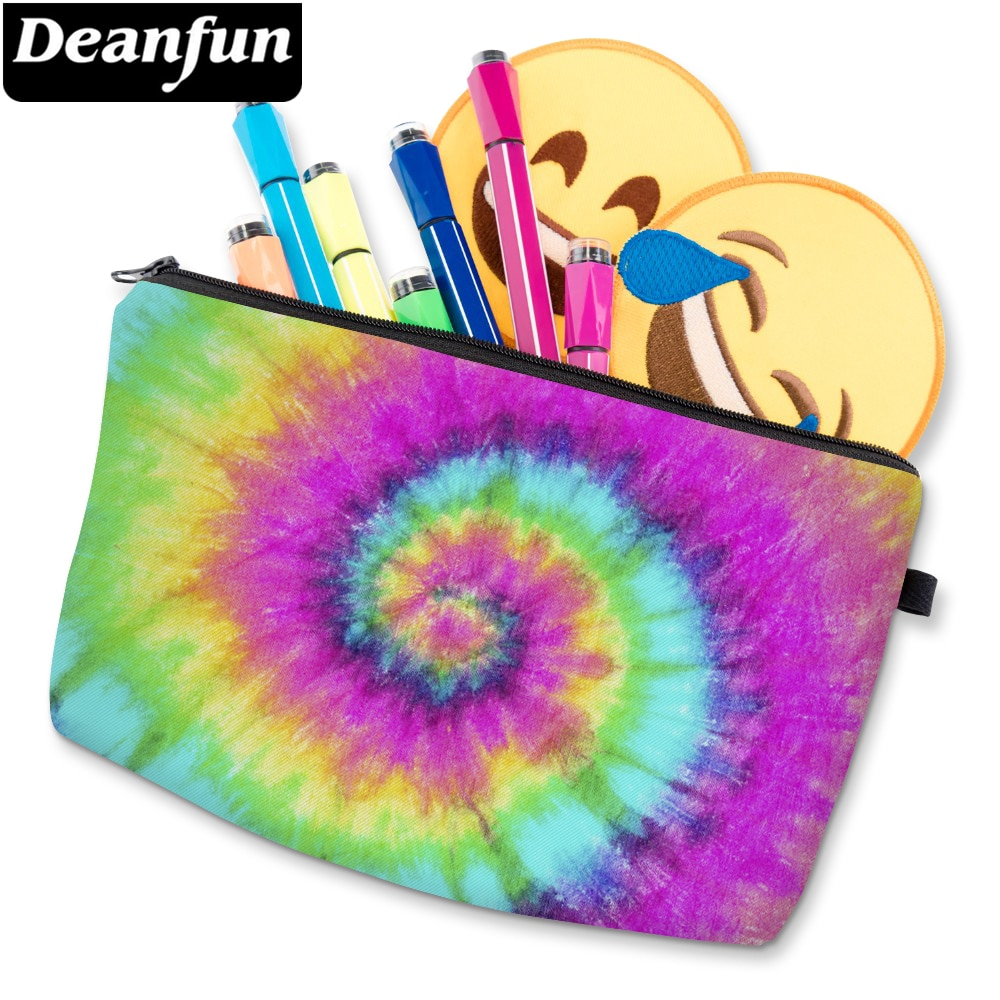 Deanfun Cosmetic Bag Colorful Patterned Makeup Bag Waterproof Women Toiletry Bag For Daily Use D5246