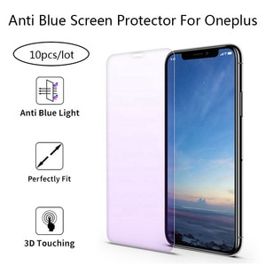 10Pcs Anti Blue-ray Light Tempered Glass For Oneplus 6T 6 7 7T Screen Protector Protective Film