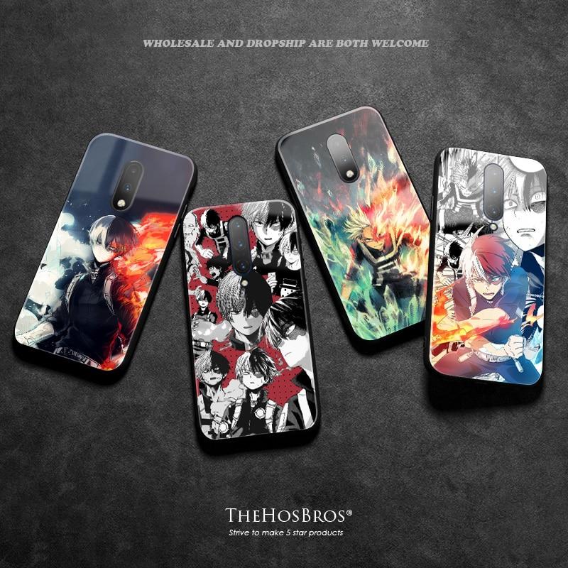 Funda de teléfono de silicona suave de vidrio templado de Shoto TODOROKI My Hero, carcasa suave para OnePlus 6 6T 7 7T Pro